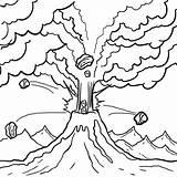 Volcano Ausmalbilder Vulkan Tsunami Cool2bkids Volcanoes Vulkane Eruption Mario sketch template