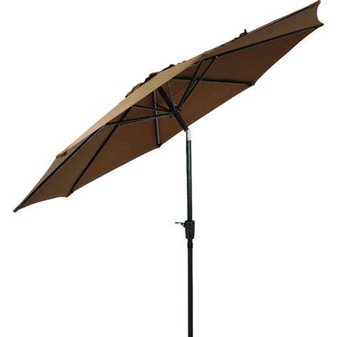 9 brown aluminum pole patio umbrella