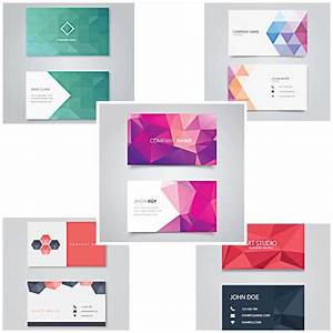 Geometric business card vector free download for Geometric business card design