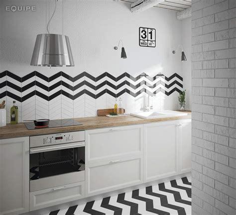 cuisine equipe herringbone subway tiles the chevron collection