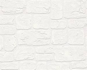 tapete struktur weiss stein as creation 2040 42 With balkon teppich mit tapete steinoptik selbstklebend