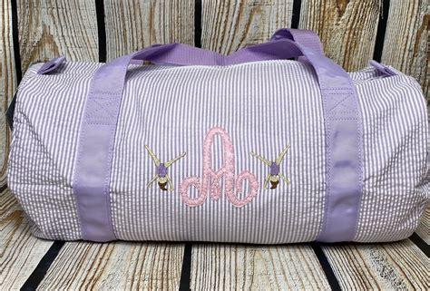 gymnastics bag gym bag gymnast dance bag dancemonogram backpack seersucker backpack