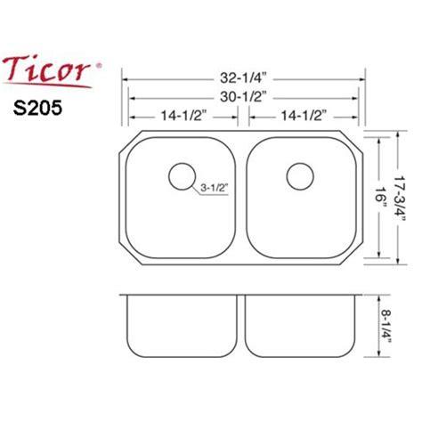 Ticor S205 Undermount 16gauge Stainless Steel Kitchen