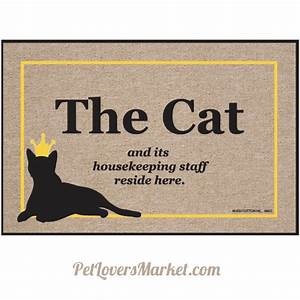 Cat and Staff: Cat Mat for Cat Lovers Pet Lovers Market