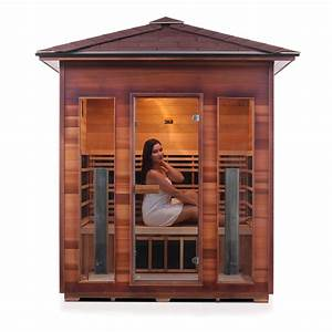 4 person outdoor infrared sauna rustic series