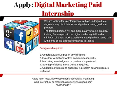digital marketing graduate digital marketing graduate position vacancies nigeria