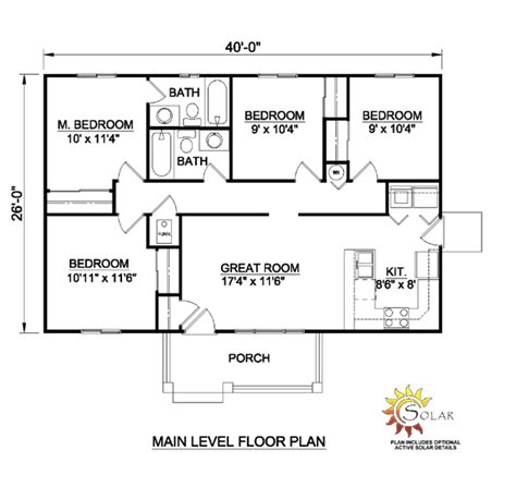 one level house plans house plan 94451 at familyhomeplans com