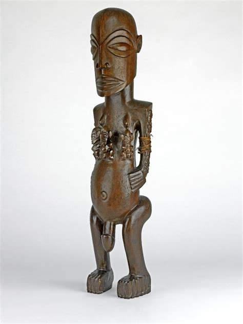 file cook islands carved wood figure british museum jpg