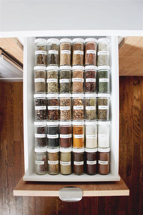 spice drawer organization   perfect