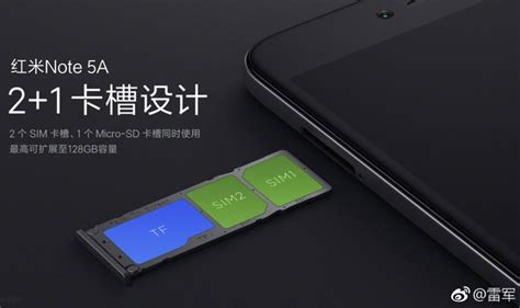 front tip out tray xiaomi redmi note 5a will have dedicated dual sim slots