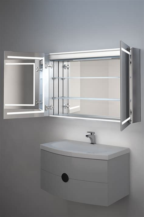 Heated Mirror Bathroom Cabinet by Lea Demister Bathroom Cabinet With Ambient Lighting