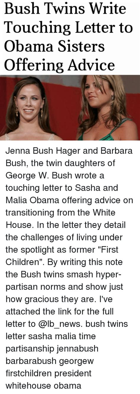 bush letter to obama 25 best memes about and malia and malia memes 47566