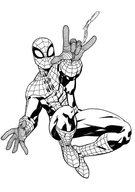 colouring in templates spiderman spiderman printable coloring pages template parties for
