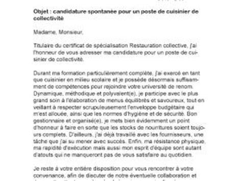 lettre motivation cuisine collectivité lettre de motivation cuisinier de collectivité par lettreutile