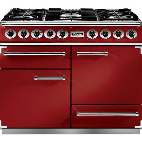 falcon range cooker falcon range cookers 1092 deluxe dual fuel range cooker f1092dxdfrd ng cherry with brushed