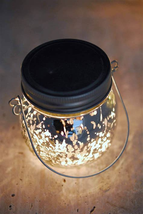 mason jar  led lights silver