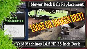 Mtd Oem Belt Replacement For A Yard Machines 38 Inch Mo