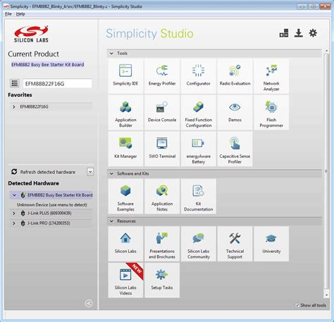 Silicon Labs Simplicity Studio | SEGGER - The Embedded Experts