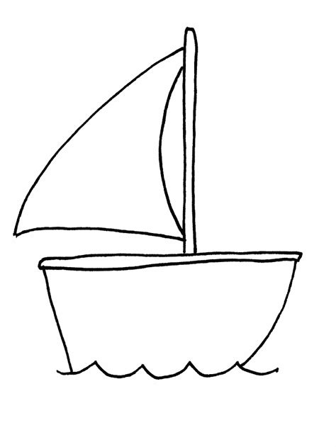 Outline Of Boat To Colour by Boat Transportation Coloring Pages Coloring Book