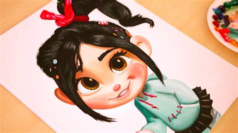 painting vanellope wreck it ralph youtube