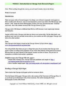 Excerpts From Chicago Style Research Paper Writing Guide
