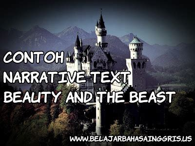 contoh narrative text beauty   beast  artinya