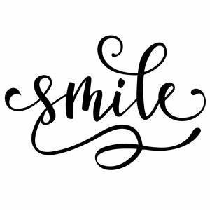 Silhouette Design Store - View Design #158155: smile word