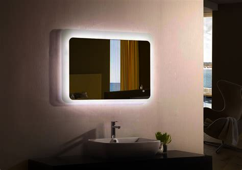 Moderno Backlit Led Bathroom Vanity Mirror Gardner White Living Room Sets Cheap Black Furniture Luxurious Rooms Glass End Tables For Decorating A On Budget Decor Open Floor Plan Kitchen And Pictures Wall Colors Feng Shui