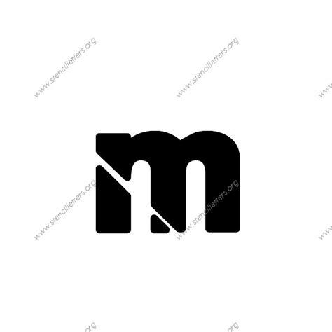heavy bold uppercase lowercase letter stencils