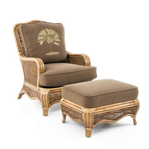 Braxton Culler Chair And Ottoman by Braxton Culler Shorewood Tropical Rattan Chair And Ottoman