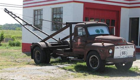 quot tow tater quot is the 1951 international boom truck that inspired the character of quot tow mater quot in