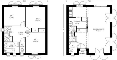 plan maison a etage 3 chambres fabulous plan maison moderne etages m chambres with plan