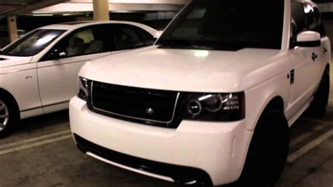 project range rover customied wrapped  satin white