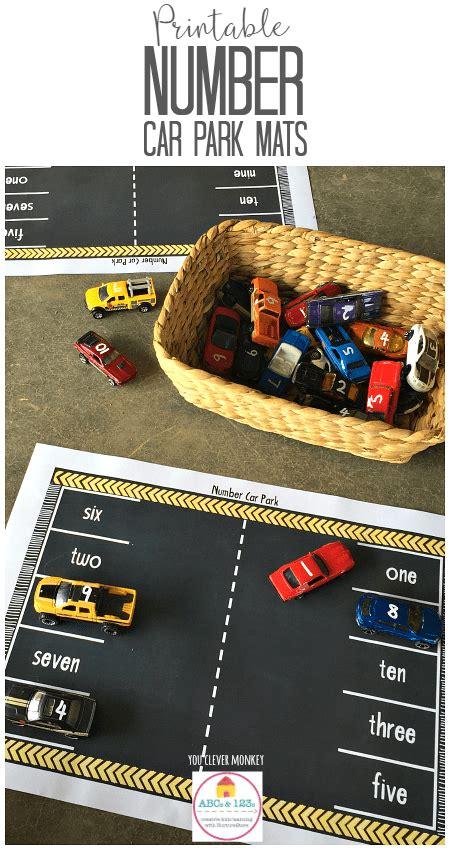 printable car play mats  numbers nurturestore
