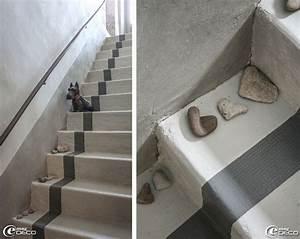 17 meilleures idees a propos de escalier beton sur With charming peindre un escalier en pierre 2 decoration entree escalier