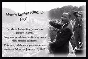 Martin Luther King, Jr. Day, 2017. Free Martin Luther King ...