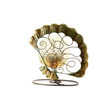 enigma scallop shell metal tealight holder