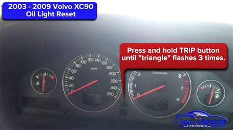 volvo xc oil light reset service light