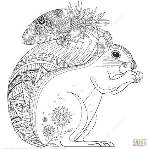 ausmalbild zentangel eichhoernchen ausmalbilder