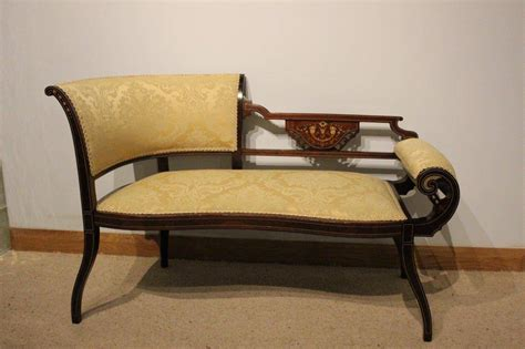 antique settees mahogany inlaid edwardian period antique settee at 1stdibs