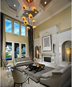Large Living Room Design With Unique Hanging Decor And