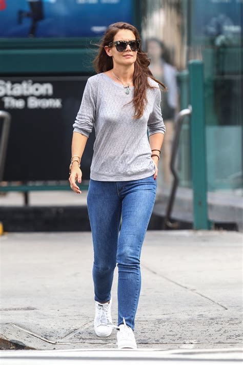 katie holmes tight  jeans   nyc july