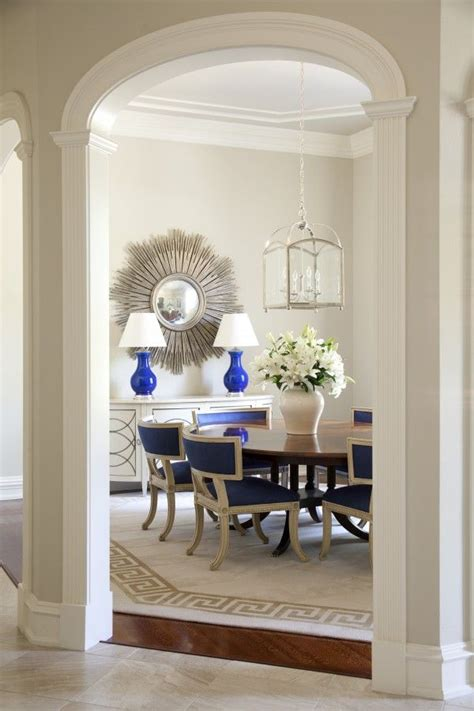 greige and blue greige dining room walls creamy white trim blue accents and blue spitzmiller ls interior