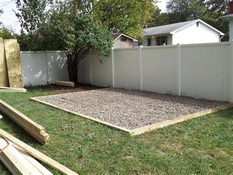 build  shed base gravel
