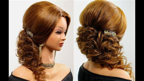 prom wedding hairstyle  long hair tutorial youtube