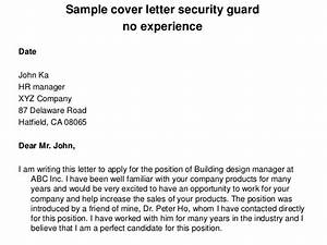 Sample cover letter security guard no experience for Sample cover letter for security guard with no experience