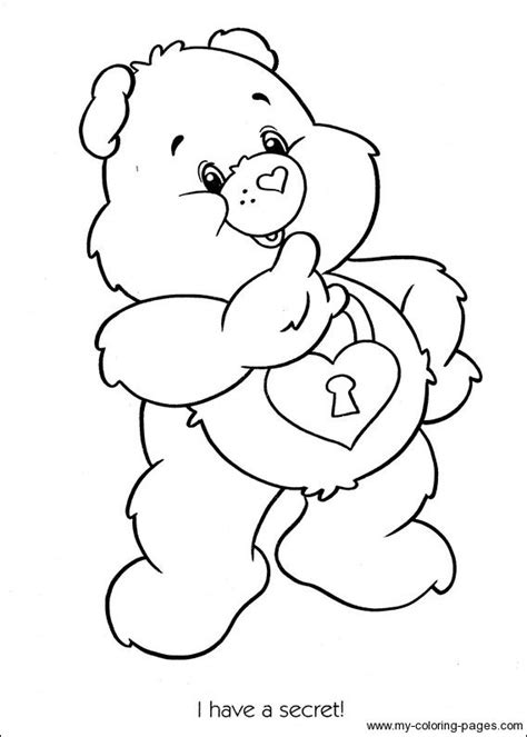 Care Bears Coloring-115 | Bear coloring pages, Farm animal