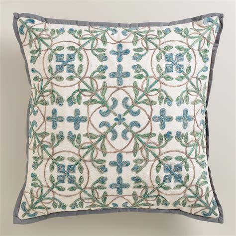 aqua blue throw pillows aqua blue tile throw pillow world market