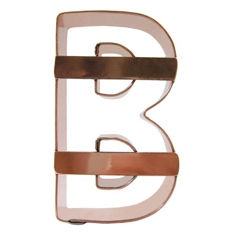 letter cookie cutters letter b cookie cutter 22794