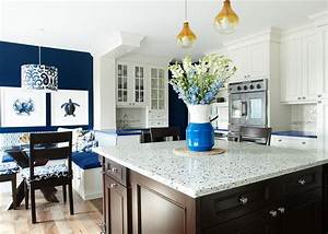 blue kitchen contemporary kitchen new york by With kitchen colors with white cabinets with recycled glass candle holders